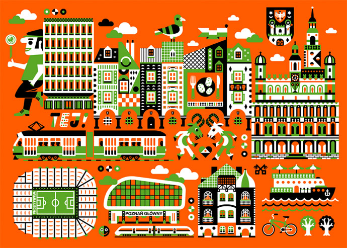 Detailed vector compositions by Jan Feliks Kallwejt