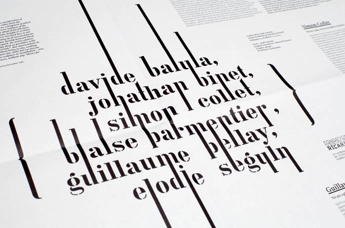 Graphic design and typography by Ségolène Carron