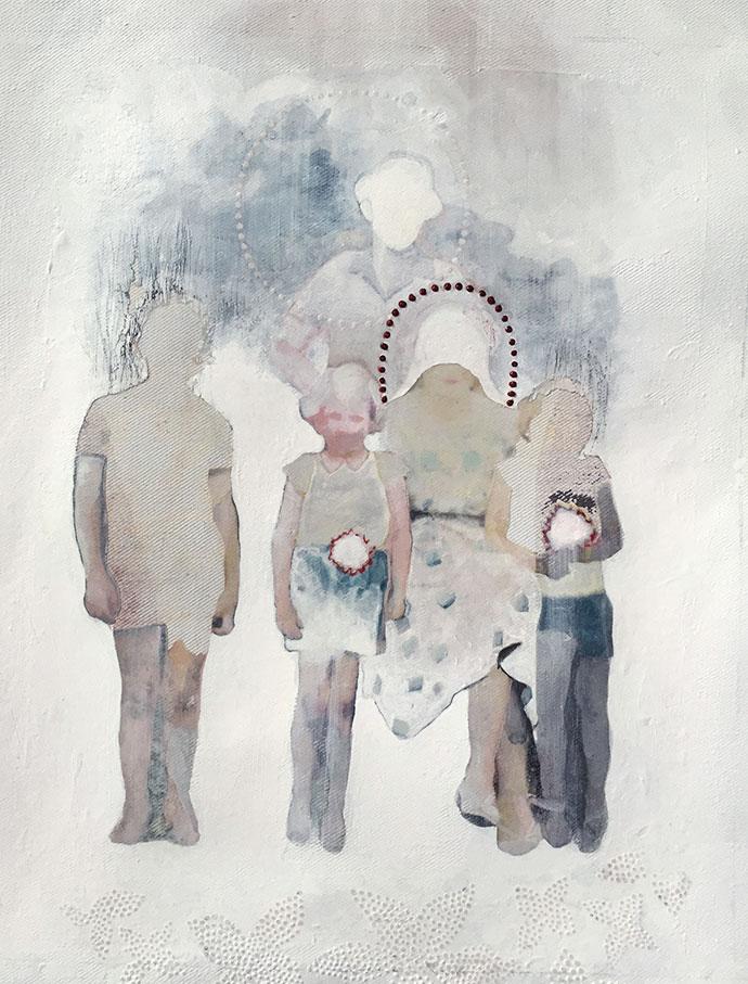 Multiple techniques used by artist Dorris Vooijs