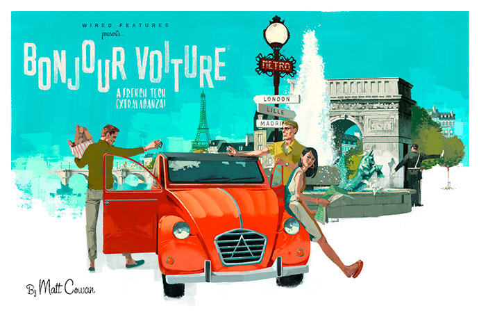 Vintage lifestyle illustration by Marc Aspinall