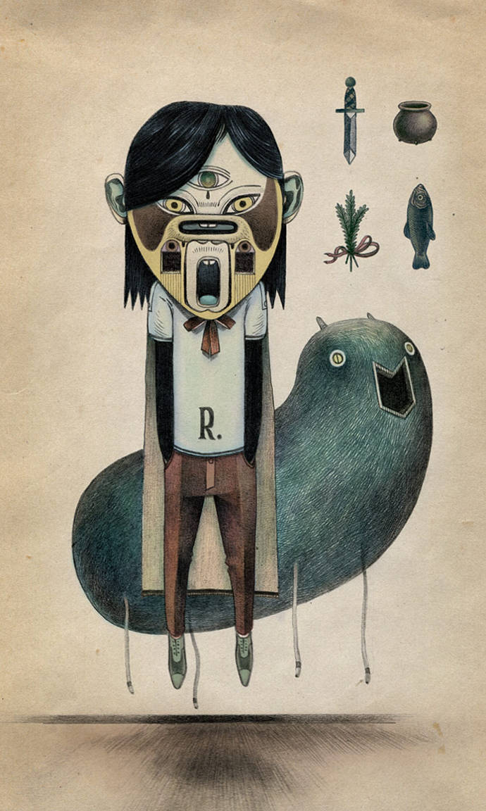 Primitive inspired characters by Raymond Lemstra