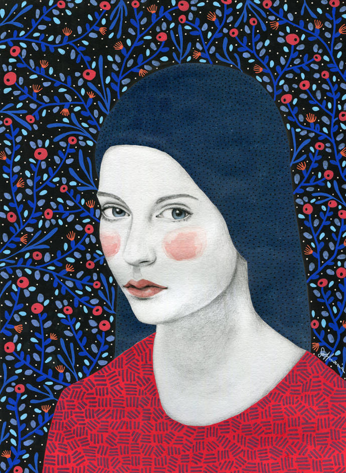 Original portraits of women by Sofia Bonati