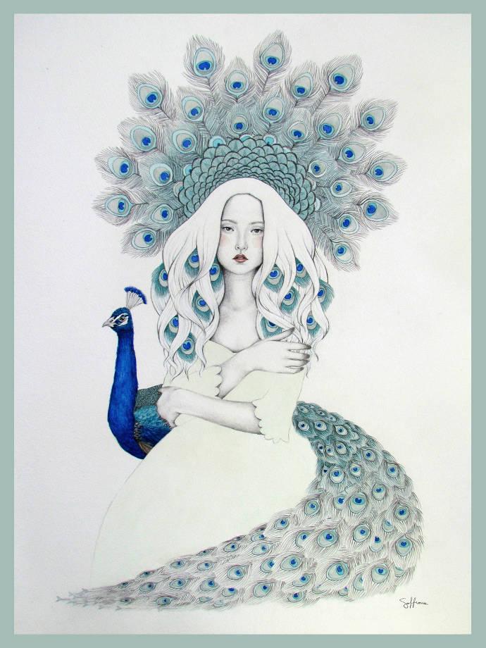 portraits originaux de femmes par Sofia Bonati