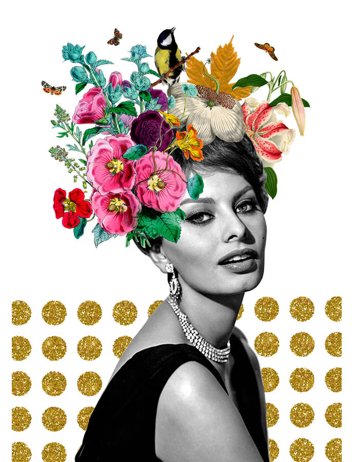 Surrealist collages by artist Gloria Sánchez