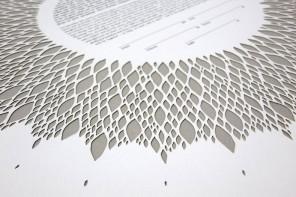 Geometric paper cut crafted by Ruth Mergi