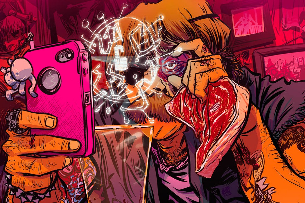 Cartoon and video games inspired illustration by Nathan Fox
