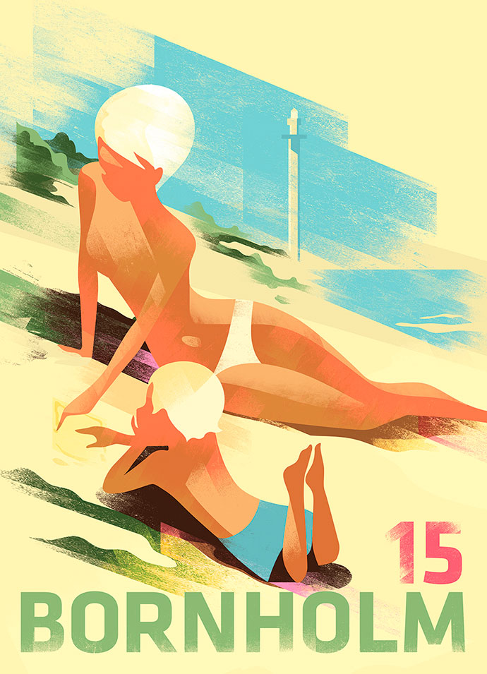 Classic poster art by illustrator Mads Berg