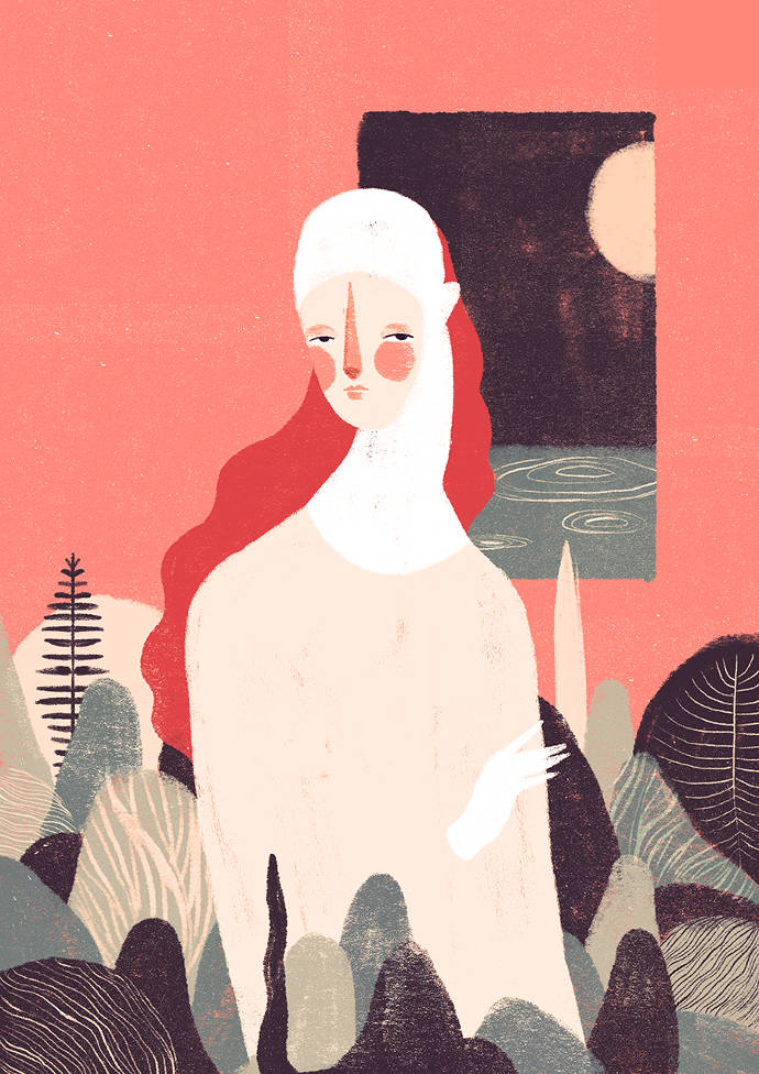 Elegant textured illustrations by Willian Santiago