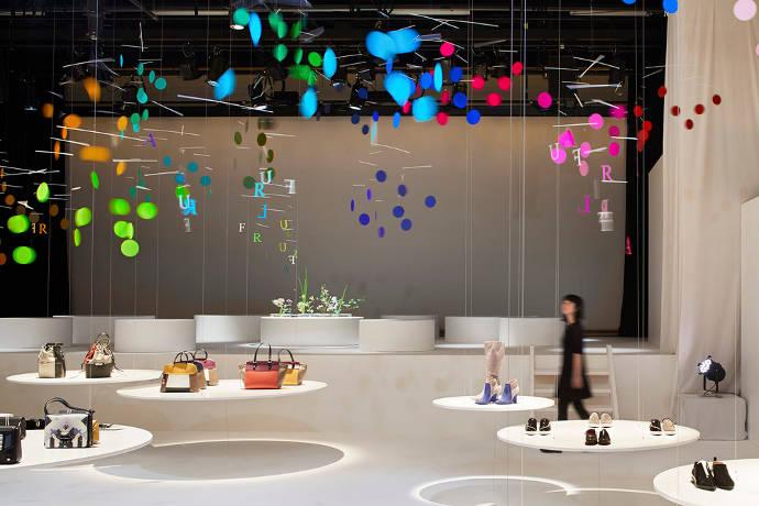 Dividing space with colors by Emmanuelle Moureaux