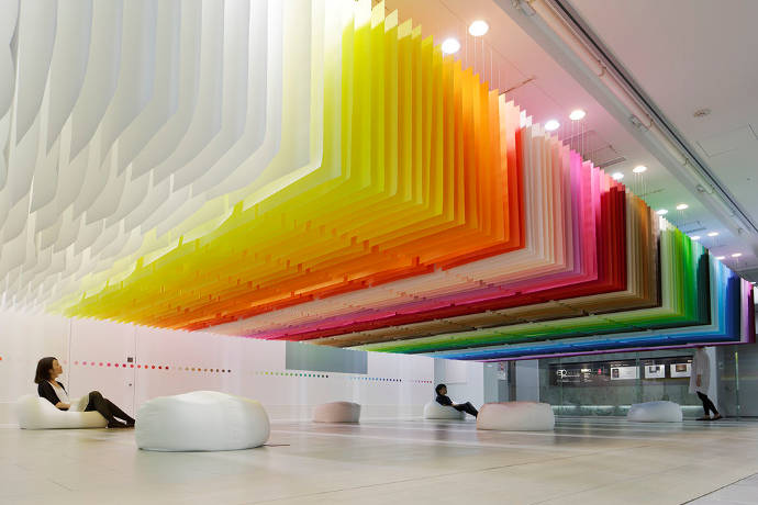 Dividing space with colors by Emmanuelle Moureaux