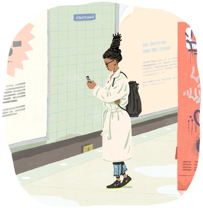 Mellow narrative illustrations by Jeff Östberg