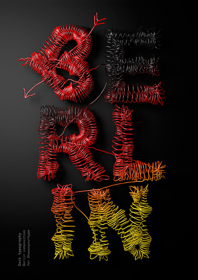 3D compositions and typography by Txaber