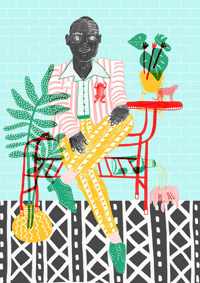 Unique fashion and food illustrations by Camilla Perkins