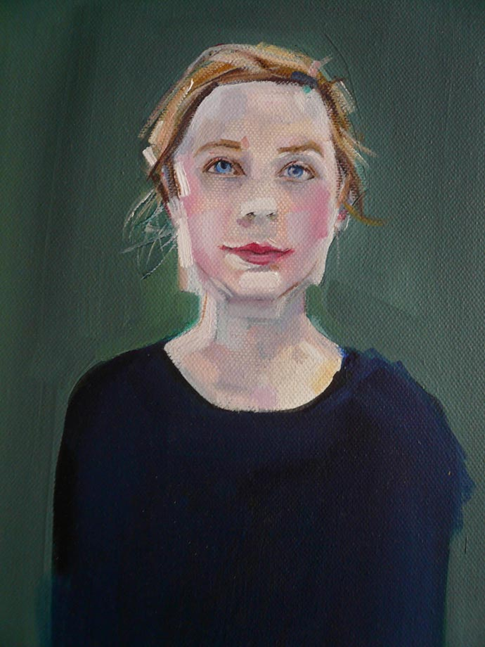 Human and dog portraits by painter Sally Muir