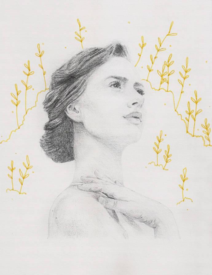 Various cool portrait illustrations by Sarah Jones