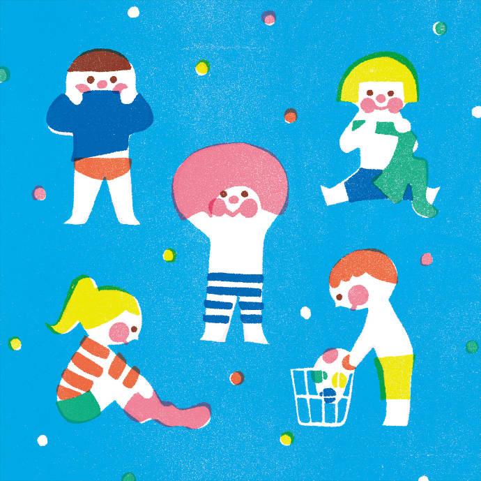 Printed style illustrations by Yamauchi Kazuaki