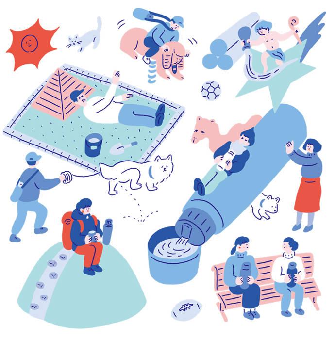 Sweet and humorous illustrations by Yu Fukugawa