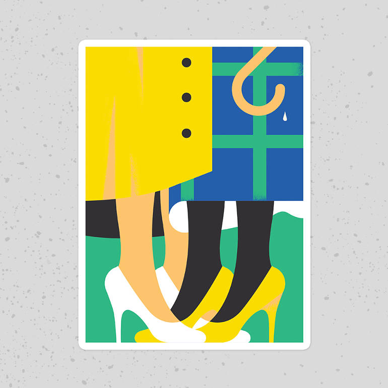 Minimalist illustrations by Giacomo Bagnara