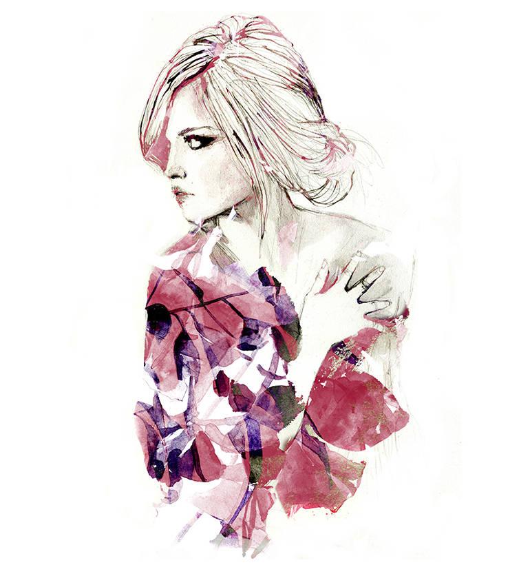 Watercolor and fashion by Sarah Bochaton