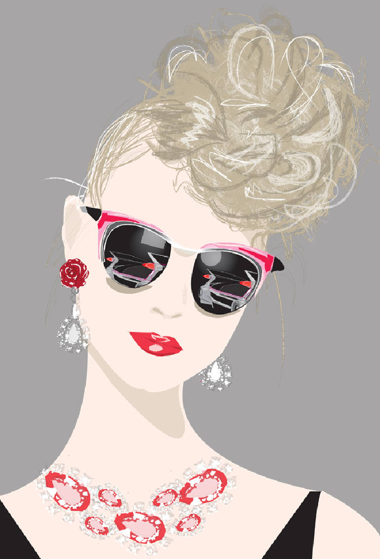 Classical fashion illustrations by Don Oehl