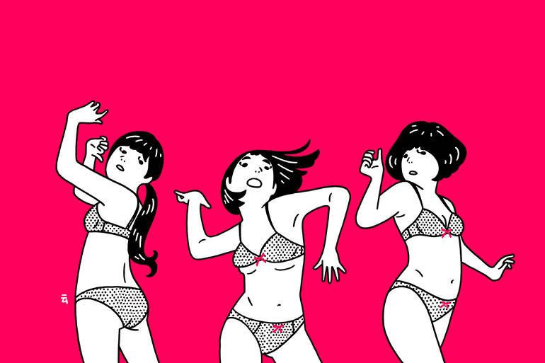Funny illustrations and GIFs by Nimura Daisuke