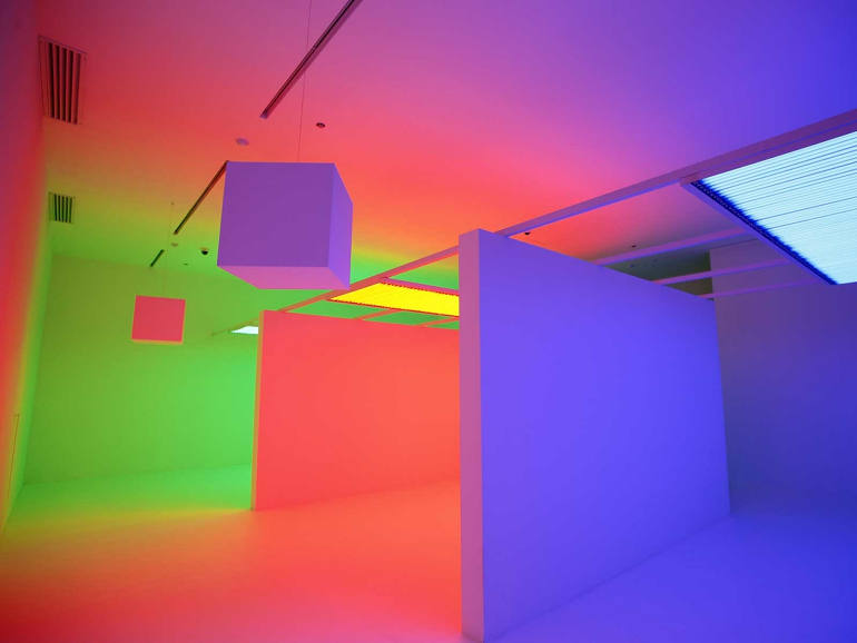 Chromosaturation color art by Carlos Cruz-Diez