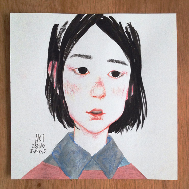 Manga inspired illustrations by Art Jeeno