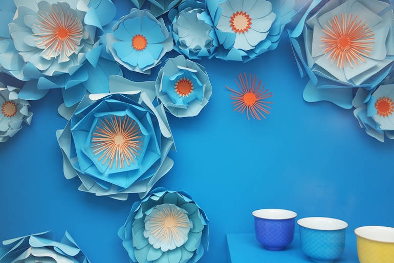 Soft detailed paper art by Charlotte Sagory