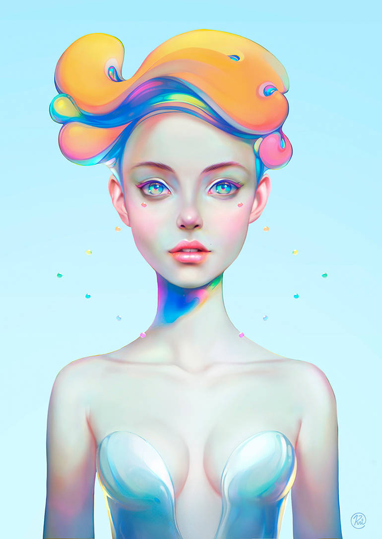 Colorful digital paintings by Christian Orrillo