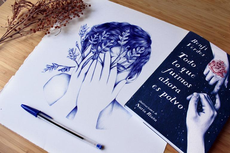 Illustrations au stylo Bic par Nuria Riaza