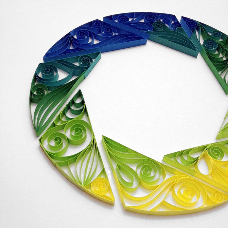 Quilling paper art by Alia Bright