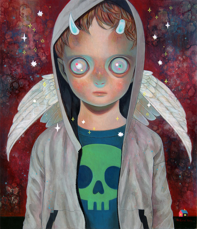 Cute horror illustrations by Hikari Shimoda