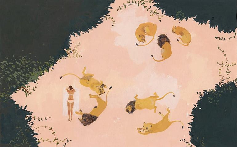 Tactile mixed-media illustrations by Katrin Coetzer