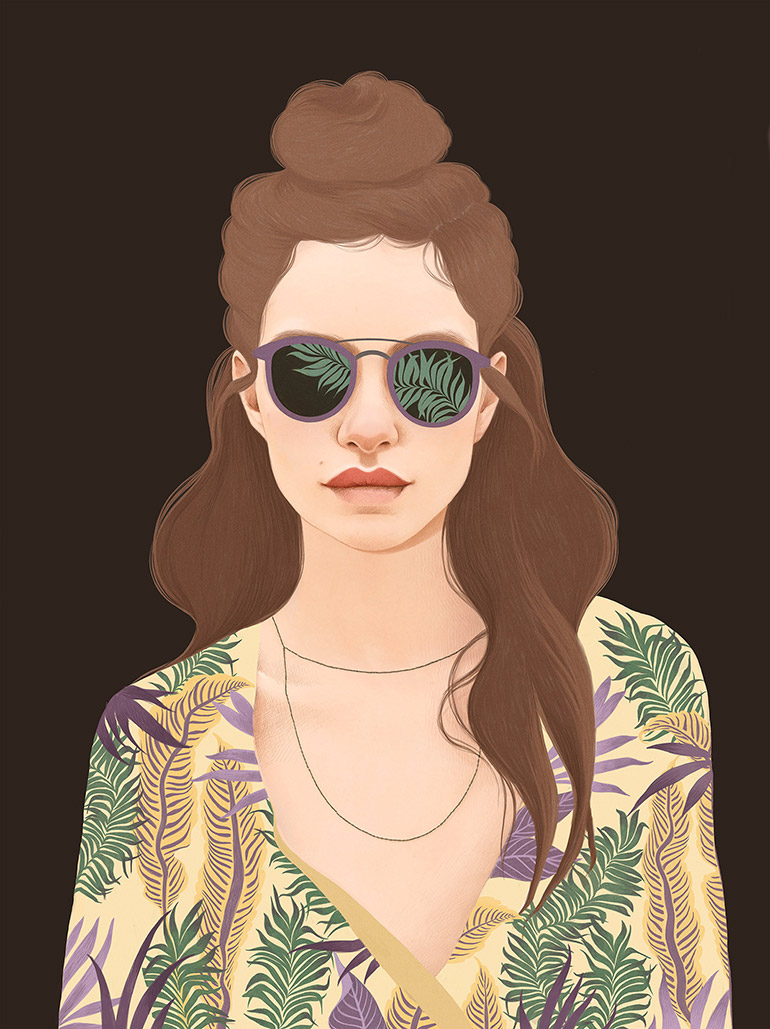 Portraits drawn by Mercedes deBellard