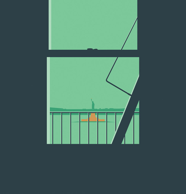 Minimalist vector illustrations by Ben Wiseman