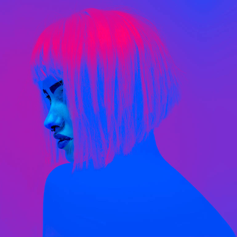 Minimal neon photographs by Slava Semeniuta