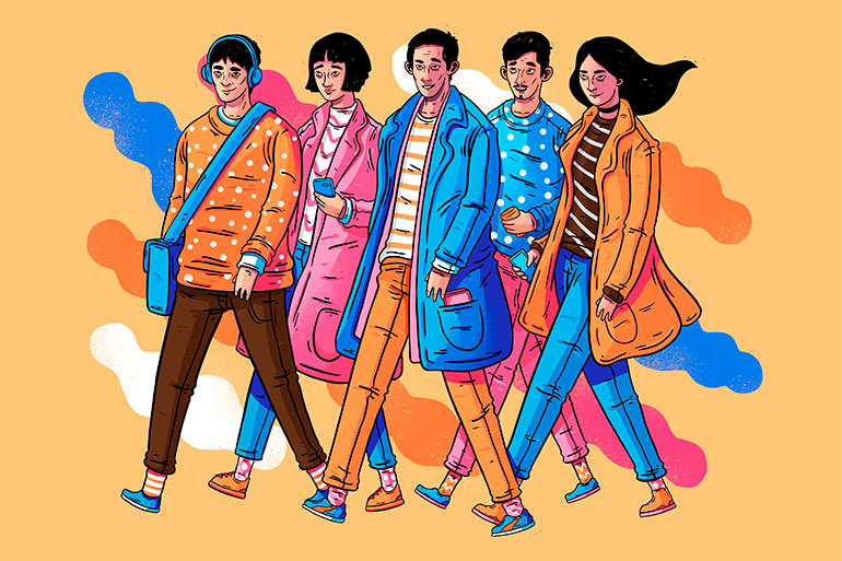 Colorful and playful illustrations by Lucas Wakamatsu