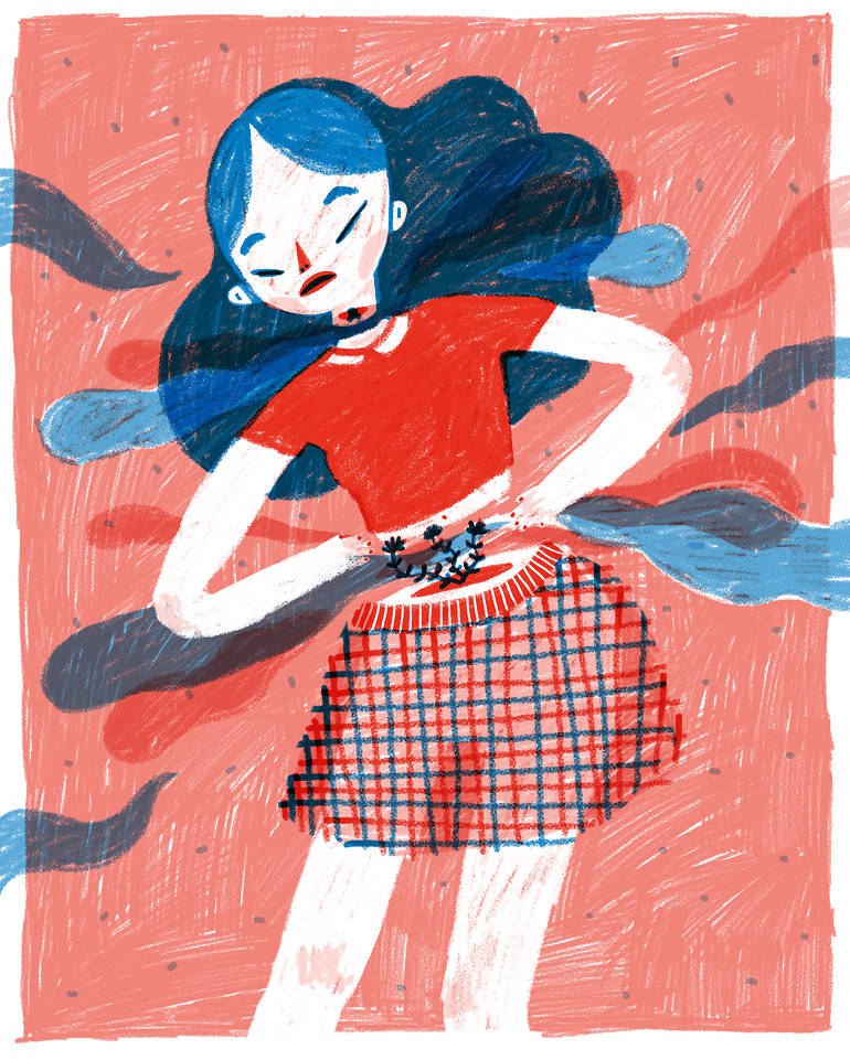 Original feminine illustrations by Rachel Katstaller