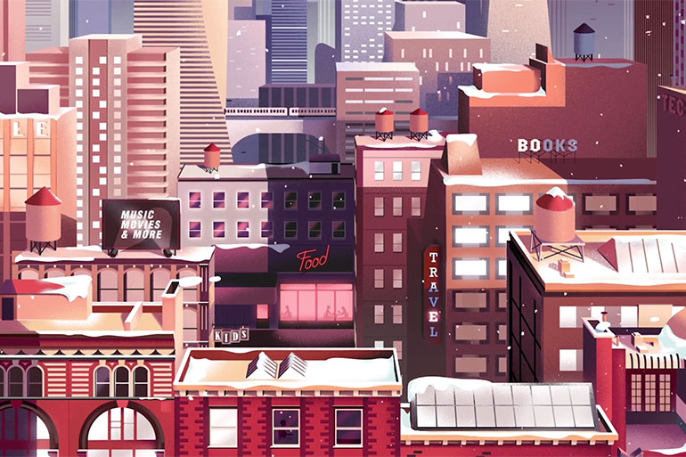 Illustrated motion design by Parallel
