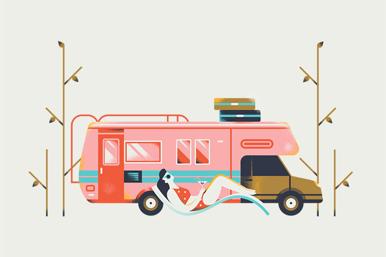 Clean simple illustration by Elen Winata
