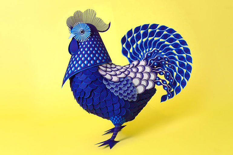 Stylish paper art by Giselle Balbar