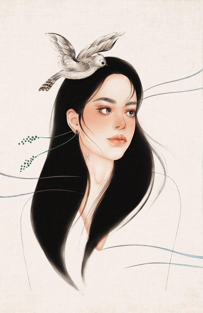 Beautiful portraits drawn by Helen Xu