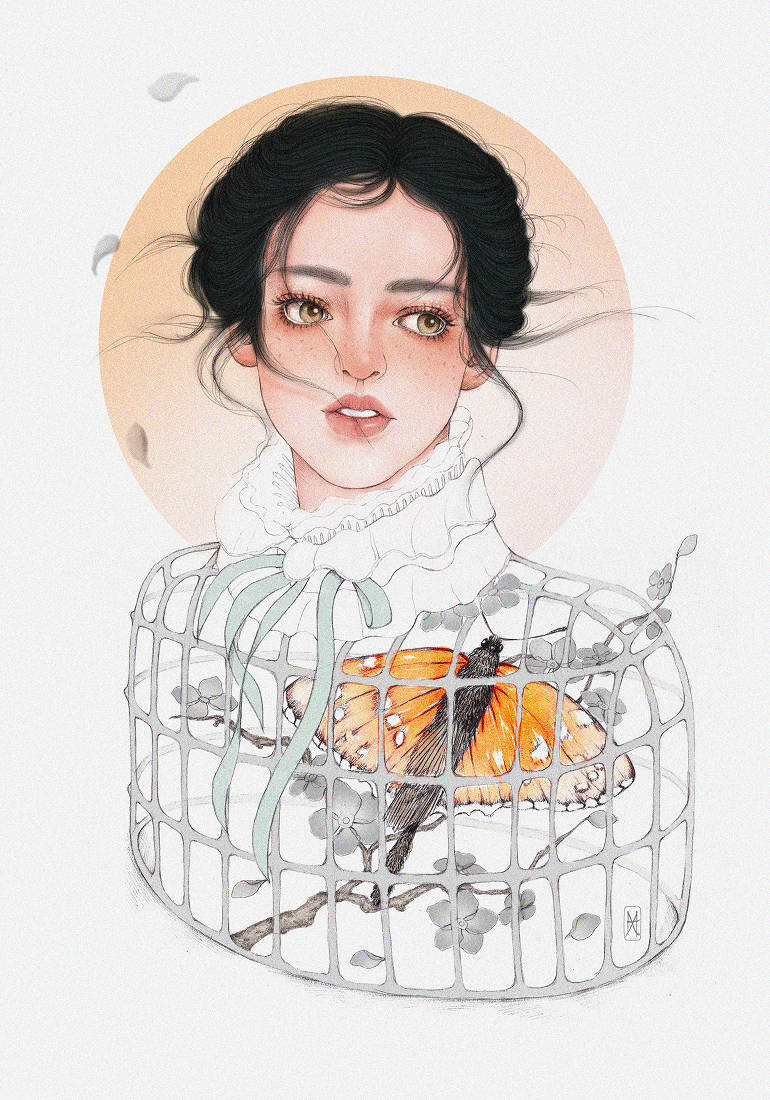 Beautiful portraits drawn by Helen Xu