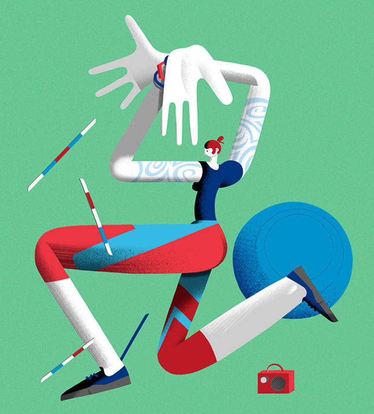 Playful illustrations by Leandro Alzate