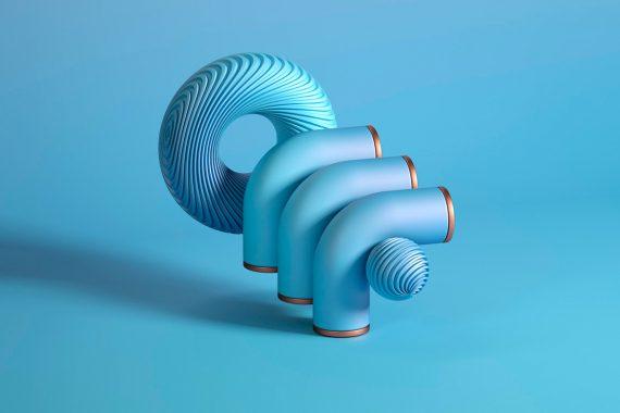 3D font experiment by Rutger Paulusse