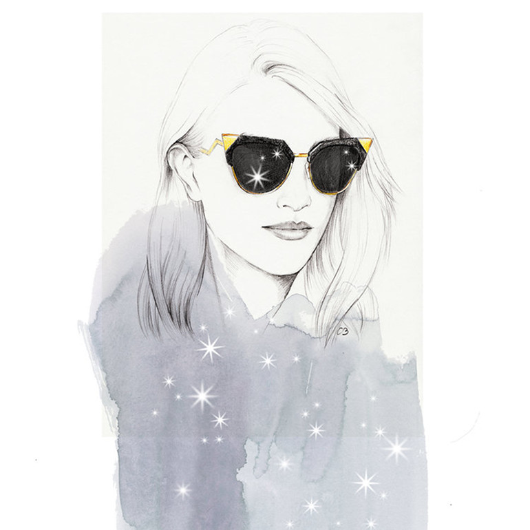 Fashion illustrations and portraits by Chuchu Briquet
