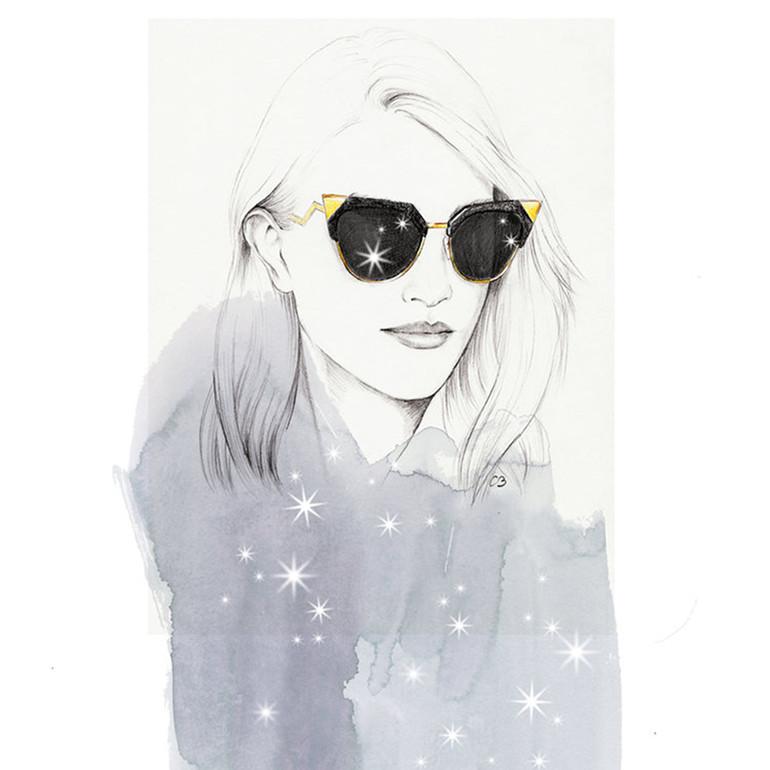 Fashion illustrations and portraits by Chuchu Briquet