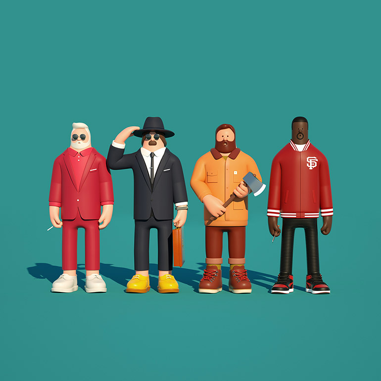 3D creative character design by Superfiction