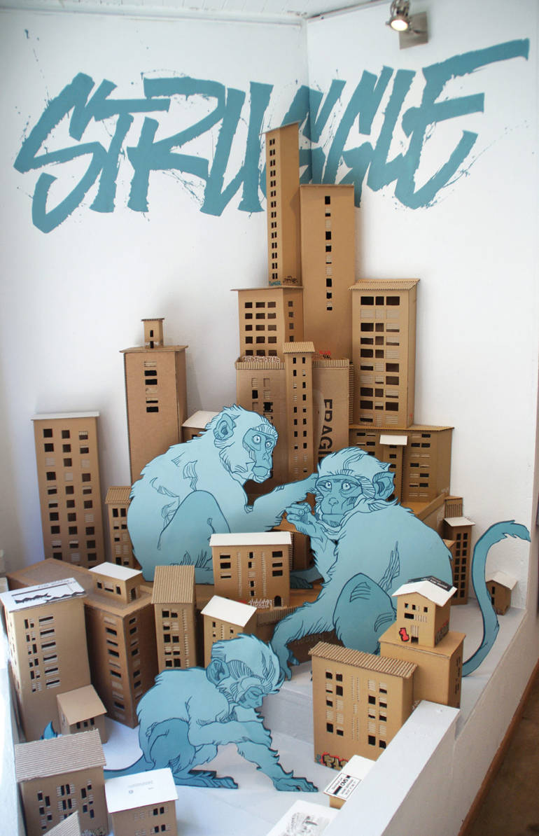 Poetic urban paper art by Tank & Popek