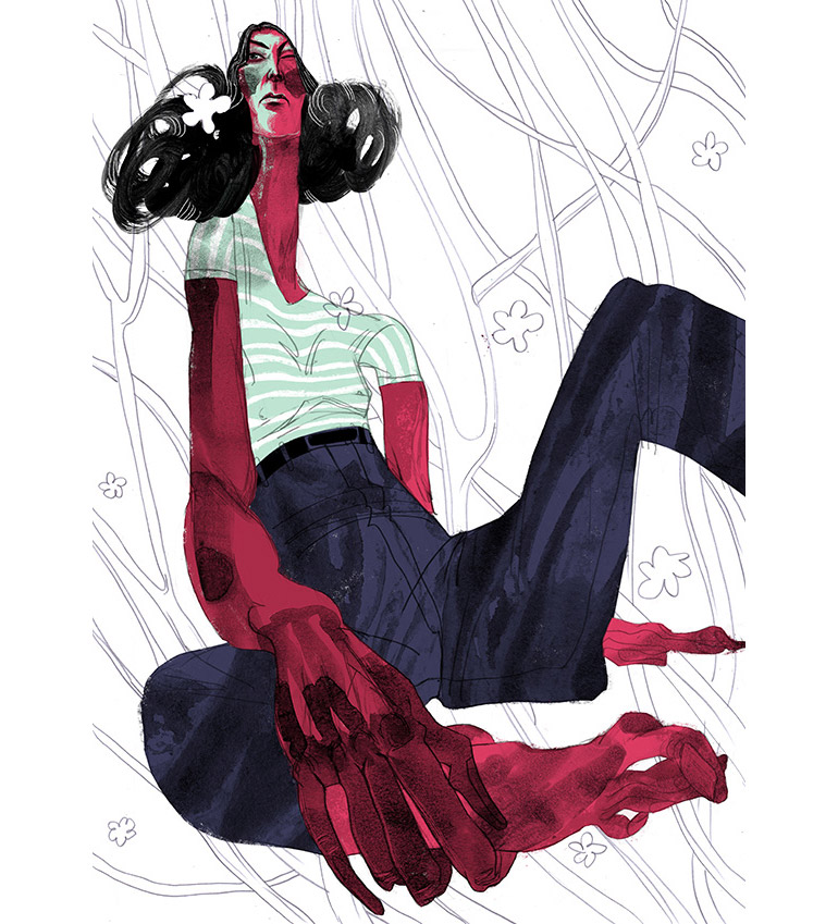 Expressive drawings by Ariadna Sysoeva